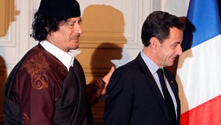 Саркози и Каддафи